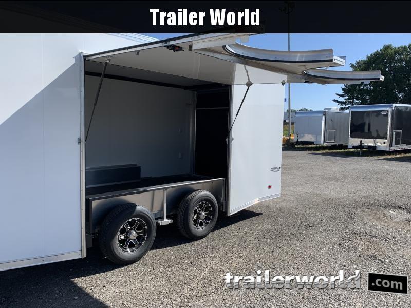 2021 Bravo Star 22 Aluminum Enclosed Car Trailer Spread Axles