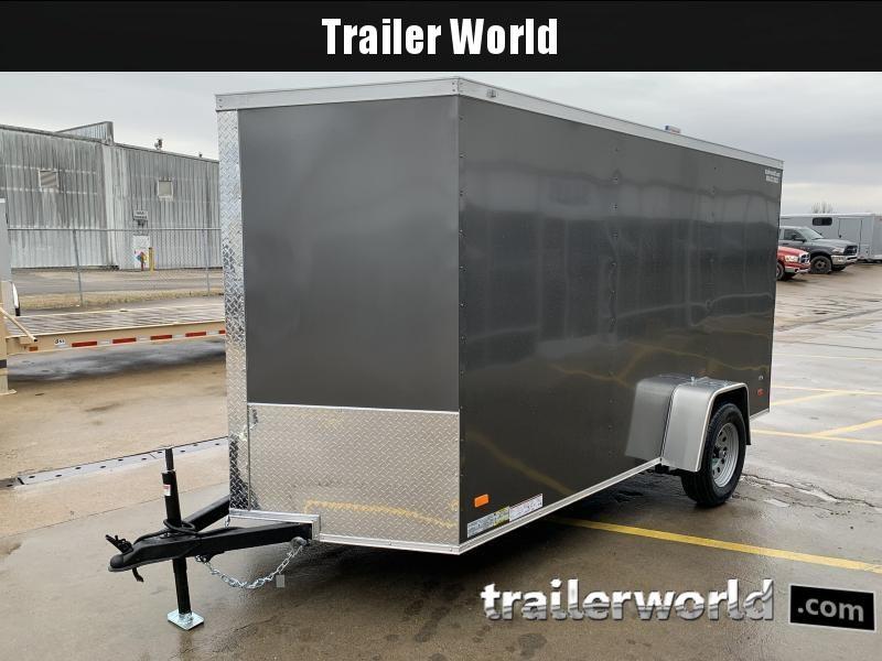 2021 CW 6' x 12' Vnose Enclosed Trailer Ramp Door