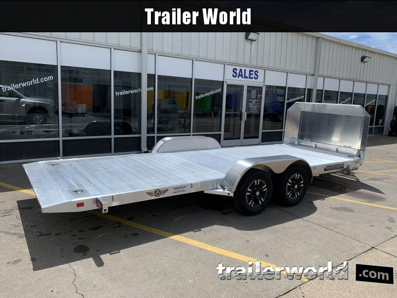 2022 Aluma 8218 Tilt Bed Open Car Hauler Trailer Anniversary Edition