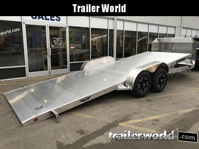 2022 Aluma 8220H Anniversary Edition Aluminum Tilt Bed Open Car Hauler Trailer 10k GVWR