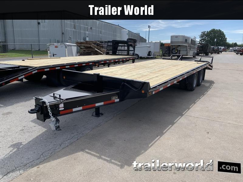 2021 Better Built Pintle Hitch Flatbed 25' Equipment Trailer 10 Ton