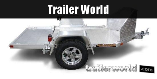 2022 Aluma MC1F Motorcycle Trailer
