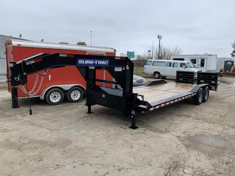 2021 Sure-Trac 102 x 21+3 Full-Width Universal Ramp Equipment Trailer