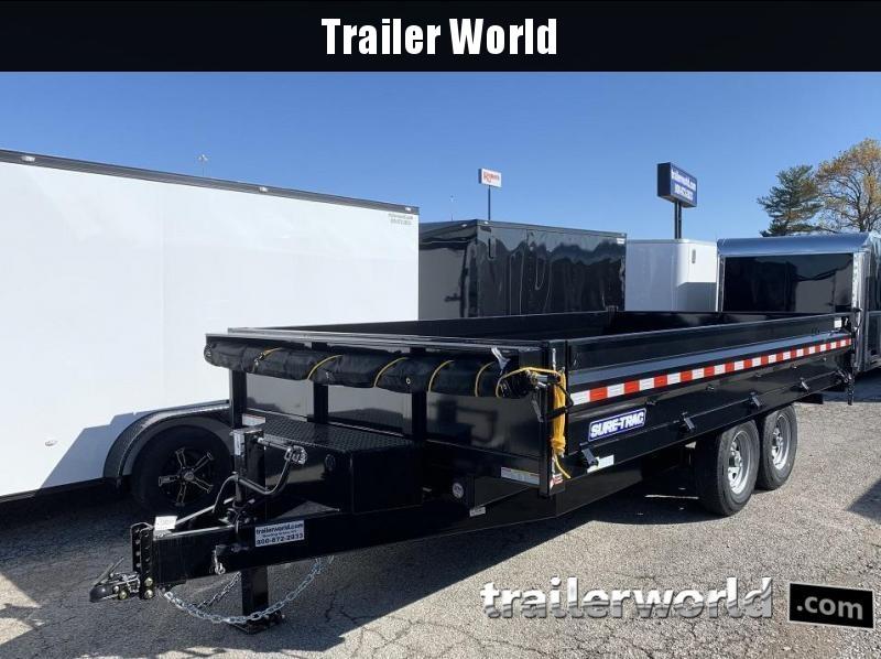 2021 Sure-Trac 8' x 16' Deckover Dump Trailer Fold Down Sides 14k GVWR