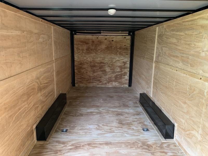 2021 Lark 8 5 x 24 x 7 Enclosed Car Trailer Ramp Door