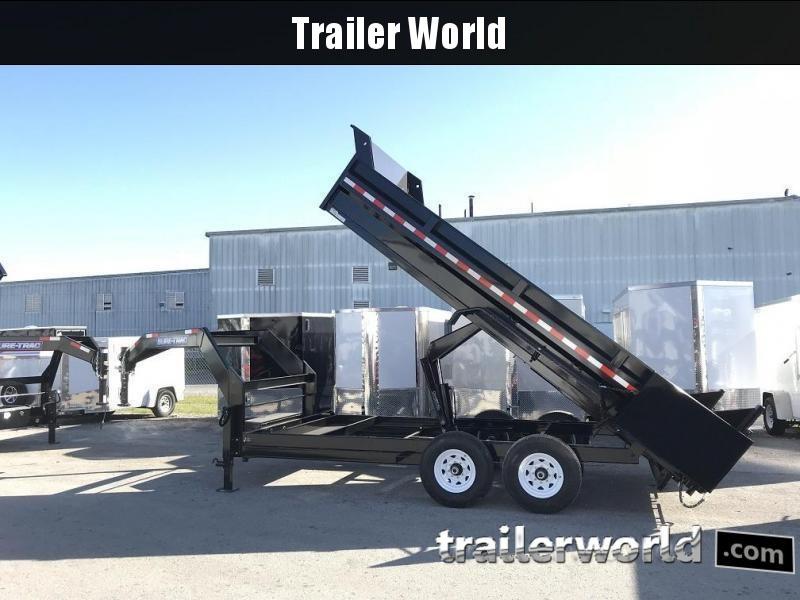 2021 Sure-Trac 16' Gooseneck Dump Trailer 14k GVWR