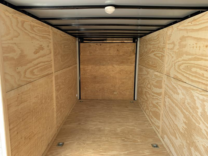 2020 Lark 7' x 18' x 7' Enclosed Cargo Ramp Door