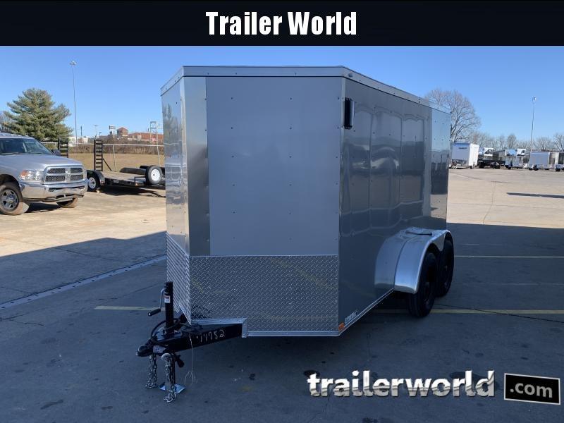 2021 Lark 6' x 12'TA Vnose Ramp Door Trailer
