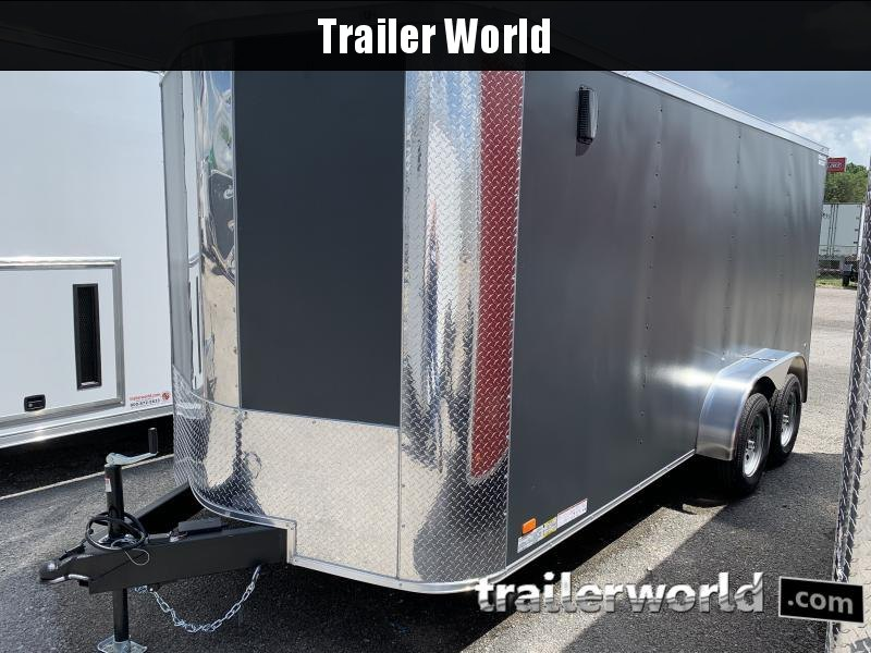 2021 Covered Wagon Trailers 7 x 16'TA Enclosed Cargo Trailer