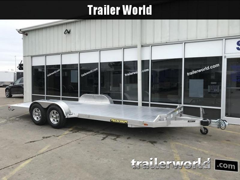 2021 Aluma 8220H Aluminum Open Flatbed Trailer with Ramps