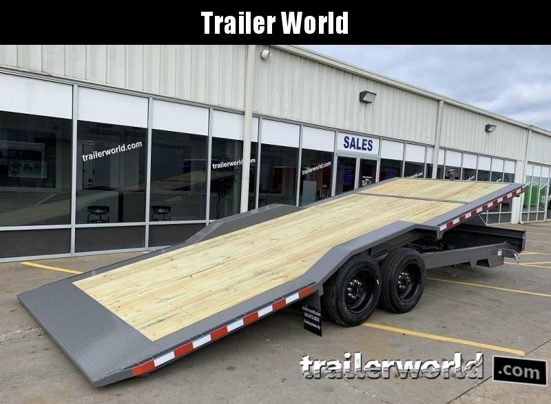 2021 Midsota TBWB-22 Power Tilt 8 Ton Equipment Trailer