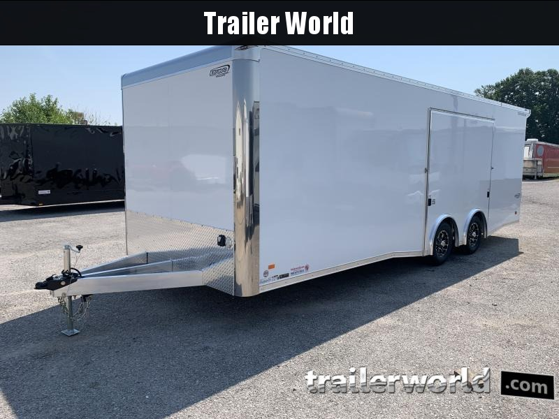 2022 Bravo Silver Star Aluminum 24' Race Trailer Full Access Door