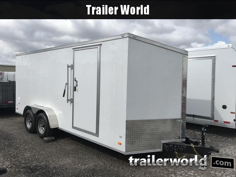 2021 CW 8.5' x 18' x 7'  Vnose Enclosed Cargo Trailer Double Door 10k GVWR