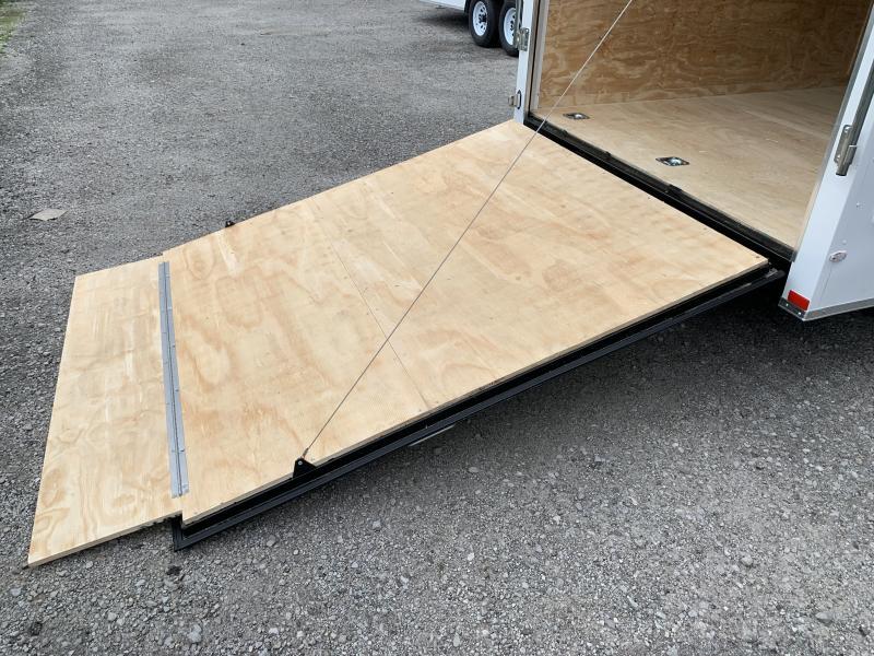 2020 Lark 7' x 24' x 7' Enclosed Cargo Ramp Door