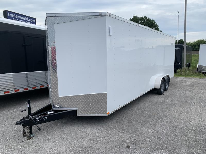 2020 Lark 7' x 24' x 7' Enclosed Cargo Ramp Door