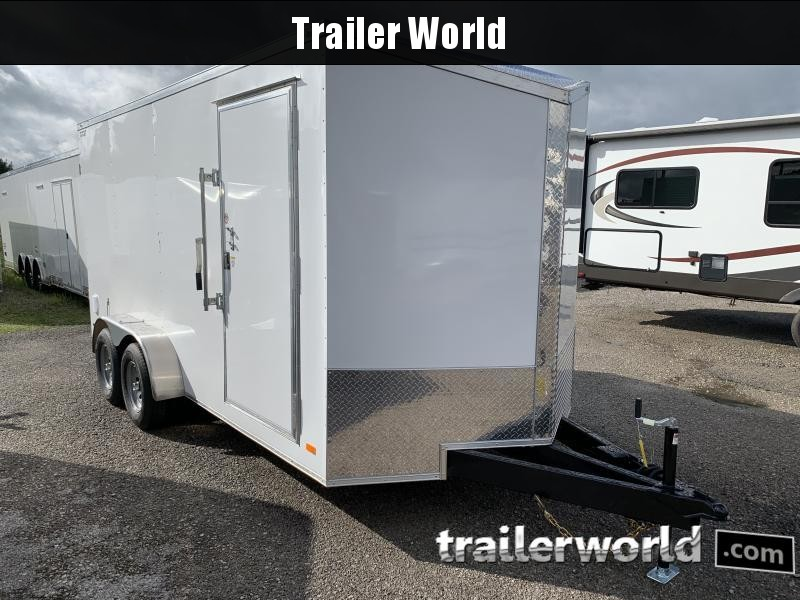 2021 CW 7' x 16' x 7' Vnose Enclosed Double Door Cargo Trailer