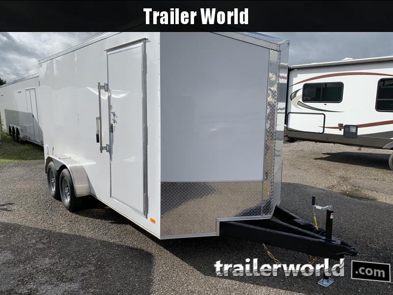 2021 CW 7' x 16' x 7' Vnose Enclosed Double Door Cargo Trailer