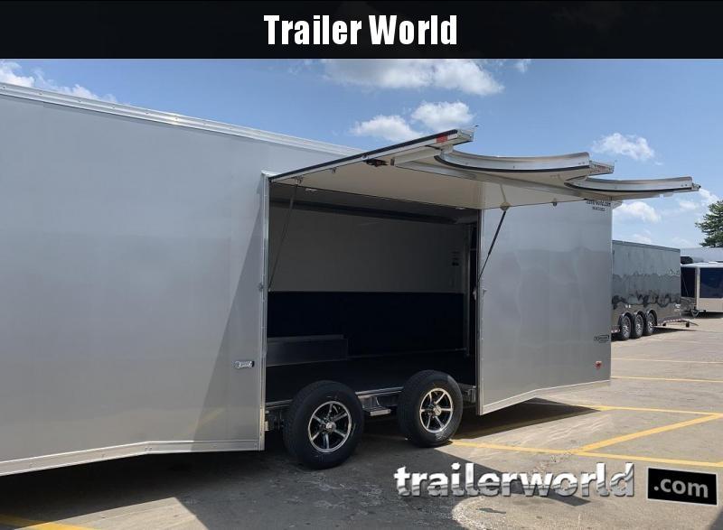 2021 Bravo Silver Star Aluminum 28' Race Trailer Full Access Door