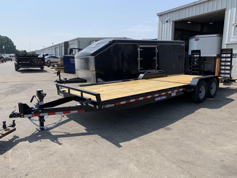 2021 Sure-Trac 7 x 24 (22+2) Equipment Trailer  14K