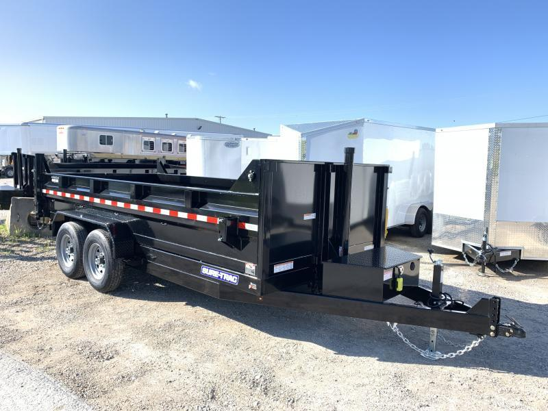 2021 Sure-Trac 16' Telescopic Dump Trailer 14k GVWR