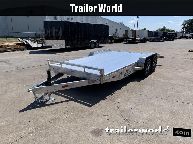 2022 Sure-Trac 20' C-Channel Aluminum Car Hauler Flatbed Trailer