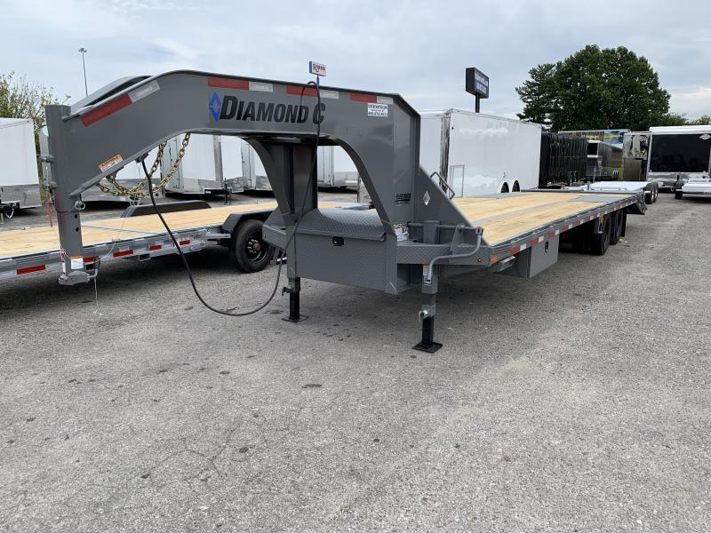 2021 Diamond C FMAX212 32' Gooseneck Flatbed Equipment Trailer 25.9k GVWR