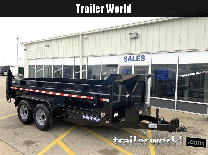 2021 Sure-Trac 82 IN X 14 LP 14K Dual Ram Dump Trailer