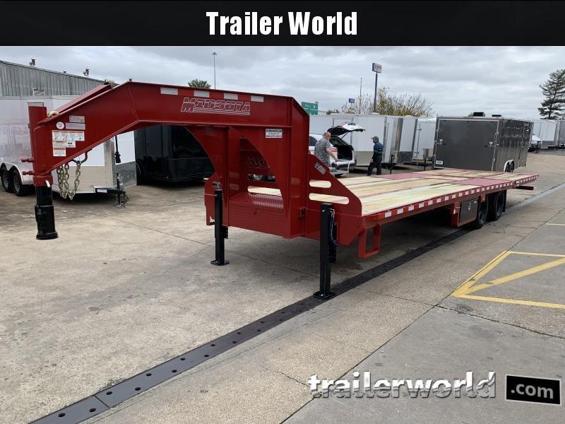 2021 Midsota 32' Hydraulic Dovetail Flatbed Gooseneck Trailer 23k GVWR