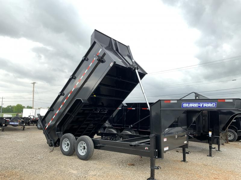 2020 Sure-Trac  14' Gooseneck Dump Trailer  14K Telescopic 4ft Sides