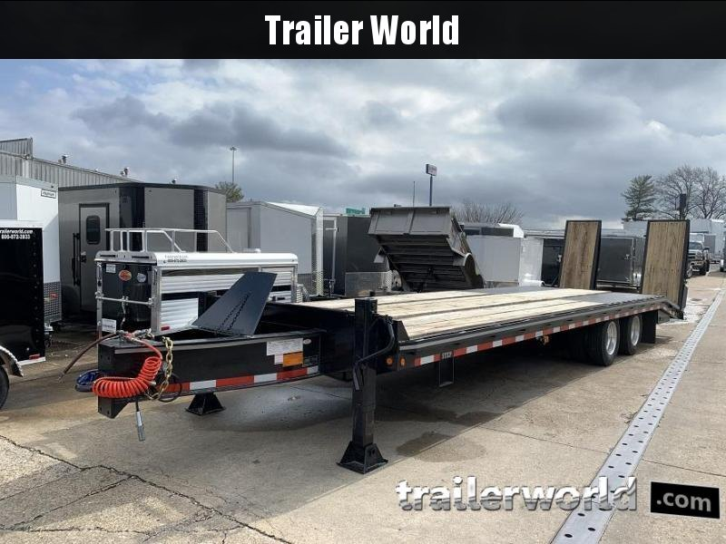 2021 Better Built 25 Ton  Air Brake Pintle Hitch 30' Equipment Trailer
