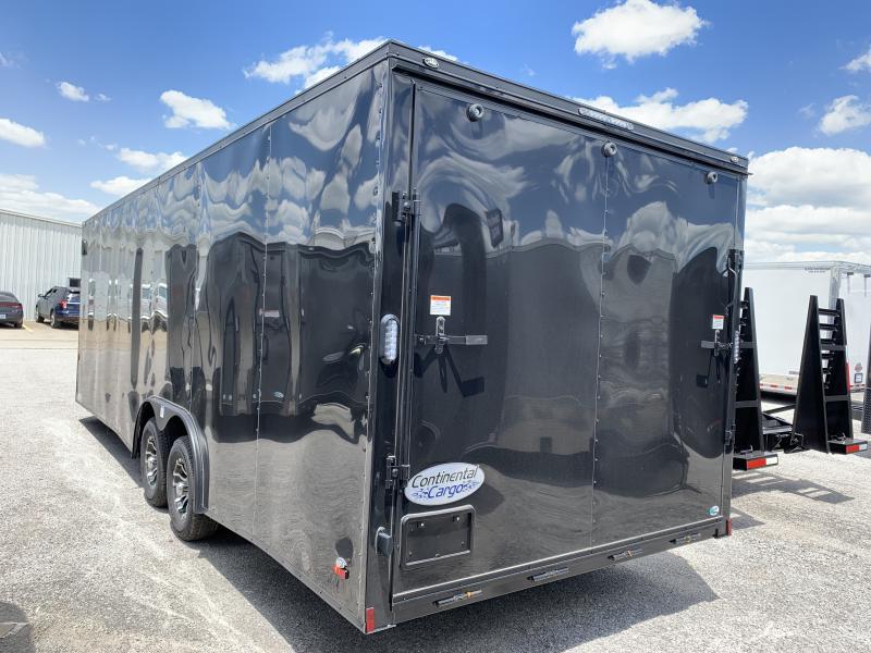 2021 Continental Cargo 24' V nose Black- Out  Car Trailer 10k GVWR