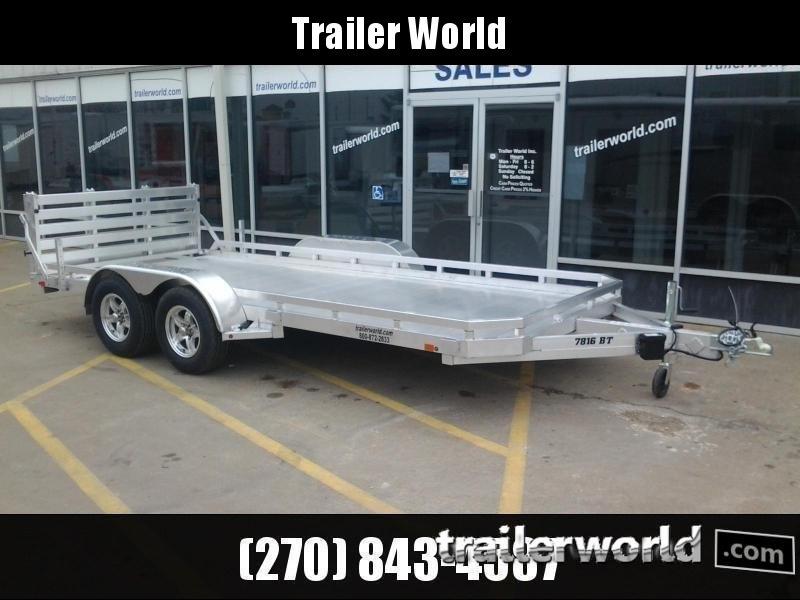 2022 Aluma 7816BT 16'  Aluminum Open Utility Trailer
