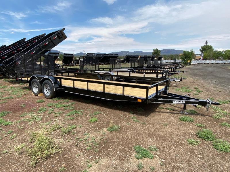 2021 Delco Tandem Axle Utility Trailer 22' (7,000 GVWR)
