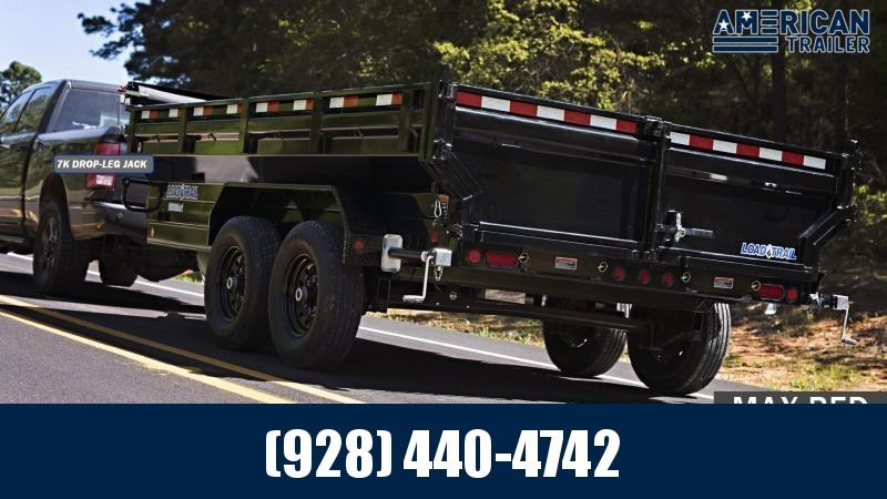 2021 Load Trail 7x14 Low Profile Dump Trailer with Scissor Lift (14,000 GVWR)
