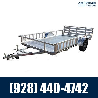 """2021 Primo 82""""x14 ATV Trailer with 12"""" high rail and ATV Side Load (2,990 GVWR)"""