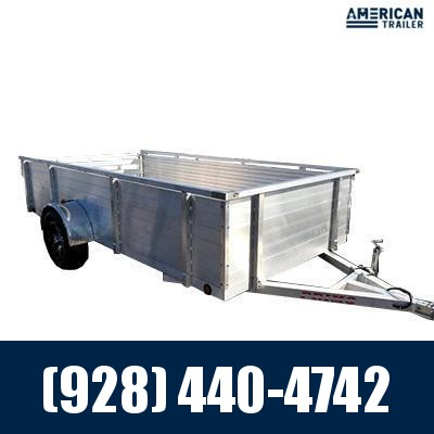 """2021 Primo 6x12 Utility Trailer with 24"""" High Solid Side (2,990 GVWR)"""
