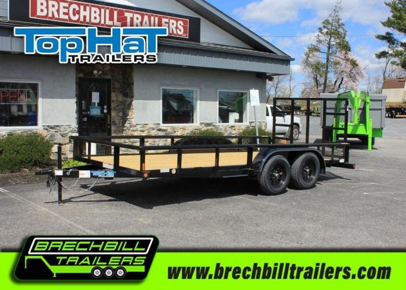 TopHat Tandem Axle Pipe Utility Trailer 83x16'x7K (MP16X83-7E-R)