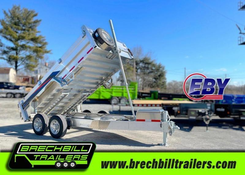 "EBY All Aluminum Bumper Pull Dump Trailer 14'x84""x14K (CB14K)"