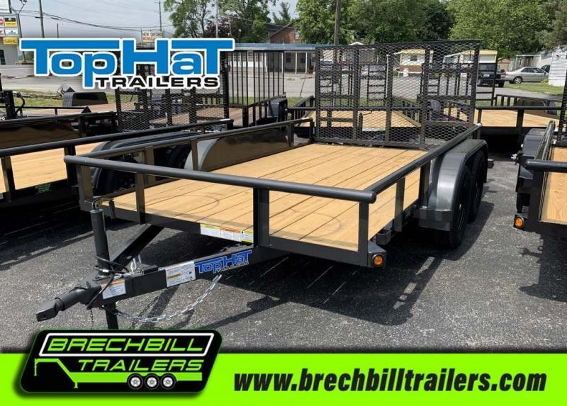 TopHat Tandem Axle Pipe Utility Trailer 83x12'x7K (MP12X83-7E-R)