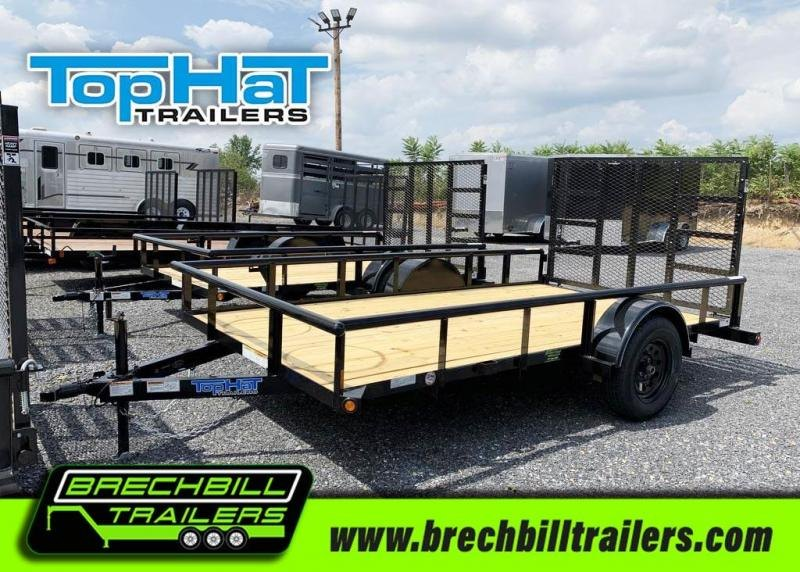 TopHat Single Axle Derby SR Pipe Utility Trailer 77x12'x3K (DSP12x77-2.9N-R)