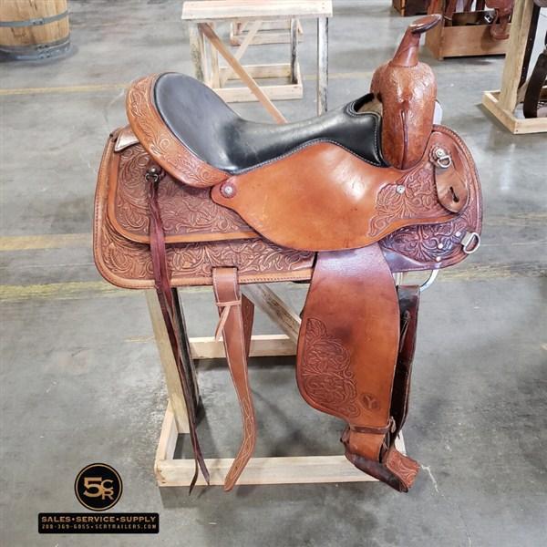 "Circle Y 17"" Western Saddle"