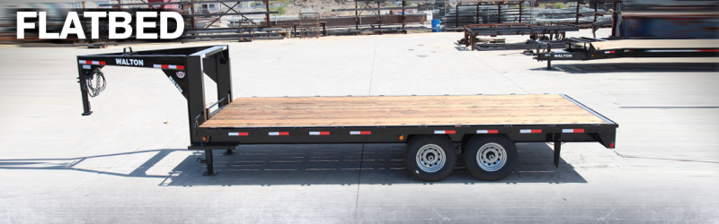 2021 Walton Trailers PF2420 Flatbed Trailer