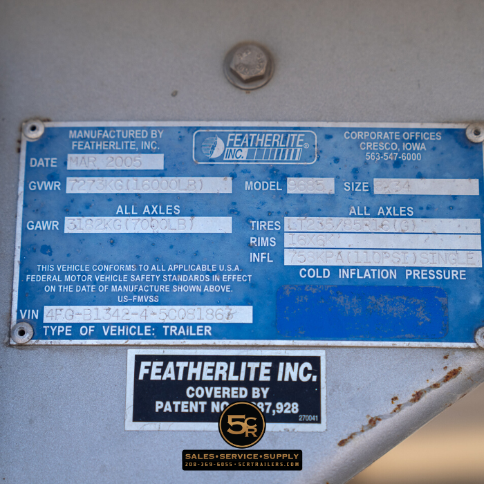 2005 Featherlite 4H LQ Horse Trailer