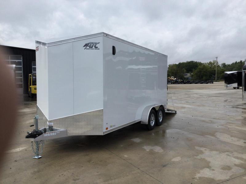 2022 ATC 7X16 ALUMINUM ENCLOSED CARGO TRAILER..