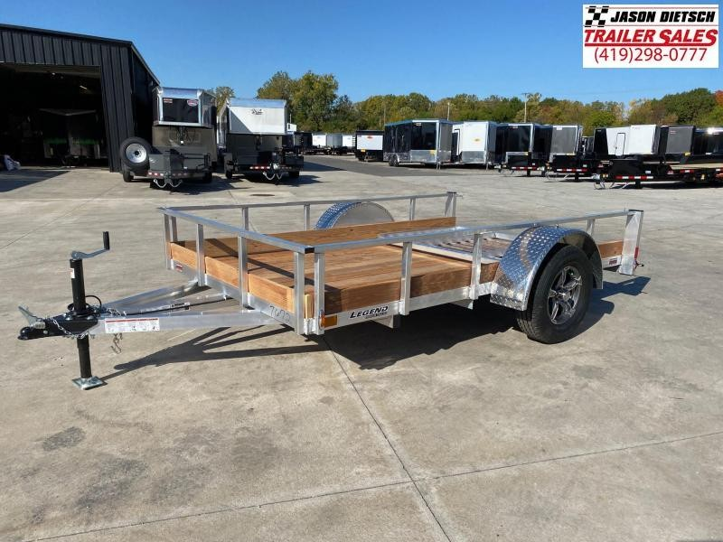 2021 Legend 6X10 Aluminum Low Side Utility Trailer