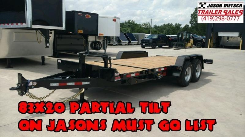 2020 Behnke 20K 83X20 (16+4) Partial Tilt Equipment Trailer