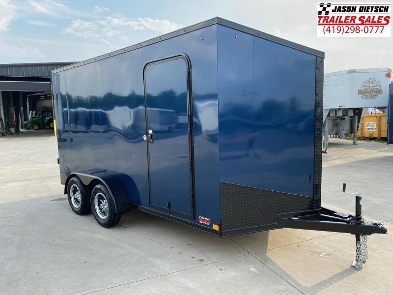 2021 Impact 7x14 Slant/V Nose Cargo Trailer [BLACKOUT]