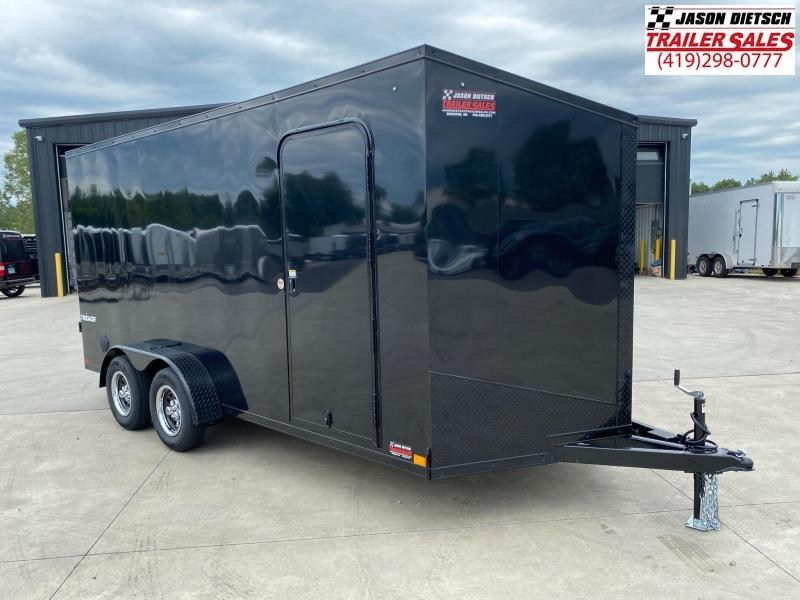 2021 Impact Tremor 7x16 Extra Height (Blackout) V-Nose Cargo Trailer