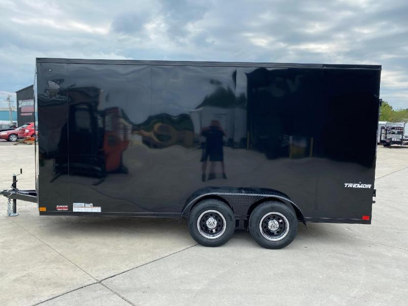 2021 Impact Tremor Blackout 7x16 Slant/V Nose Cargo Trailer