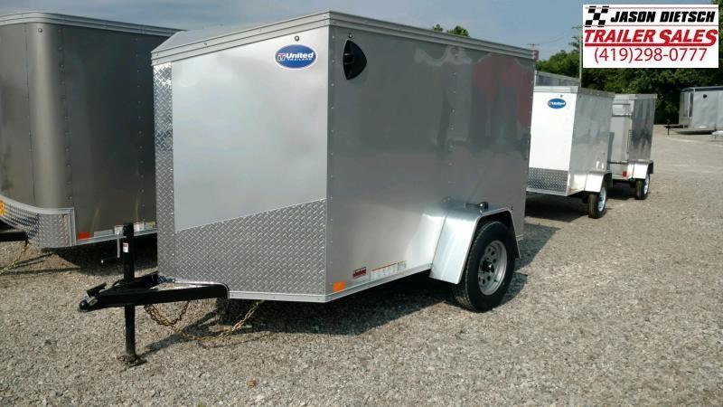 2021 United XLV 5X8 V-Nose  Enclosed Cargo Trailer